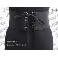 China Durable 10cm Wide Womens Stretch Belts With Black Cord Fixed & Snap Buttons for sale
