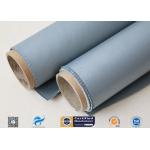 Thermal Insulation Materials 31OZ 0.85MM Grey Silicone Coated Fiberglass Fabric for sale