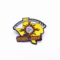 China Popular Sports Trading Pins , Glitter Epoxy Pin Badge For Collectible supplier