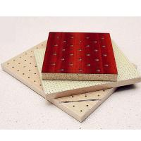 Natural Wooden Perforated Acoustic Soundproofing Panels For Studio Room for sale