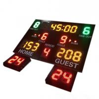 China Indoor Use Gym Digital Basketball Scoreboard With 24 Seconds Shot Clock for sale