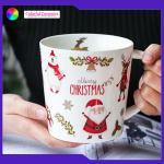 Breakfast Ware Promotional Ceramic Coffee Mugs Stoneware Christmas Mugs for sale