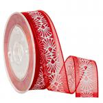 Jewelry Boxes Packaging Red Organza Ribbon for Luxury Gifts Wrapping