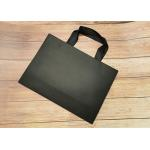 Cloth carrying Tote Paper Bag Recyclable SGS,FDA certified with black silk ribbon Handle for sale