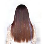 China Healthy Swiss Lace Pre Bonded Hair Extensions Medium Brown Color No Shedding for sale