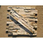 Split Face Beige 15 * 60cm Natural Slate Ledgestone Panels Exterior Ledger Stone