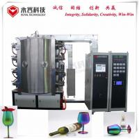 Arc Cathodes PVD Glass Coating Machine For Color Wine Glass Crystal Cups for sale