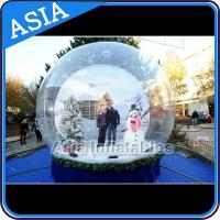 Olaf Inflatable Snow Globe Advertising Inflatable Bubble Tent With Frozen Cartoon for sale
