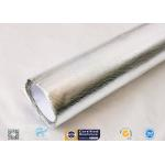 25oz Sliver Aluminium Foil Laminated Fiberglass Fabric Non Combustible for sale
