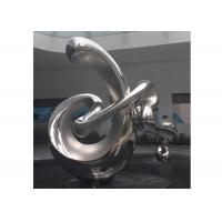 Large Contemporary Art Stainless Steel Abstract Sculpture Polished Finish for sale