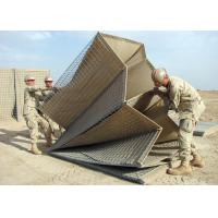 Welded Hesco Barrier / Hesco Bastion / Gabion Mesh Box with brown geotextile for military for sale