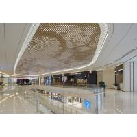 China 2.5MM PVDF Coating Luxury Gold Metal Ceiling Panels For Shopping Mall Commercial Building supplier