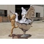 Contemporary Outdoor Metal Statues Public Decorative Stainless Steel Animal Sculpture for sale