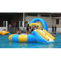 China 0.9mm PVC Tarpaulin Inflatable Water Trampoline Combo For Swimming Pool supplier