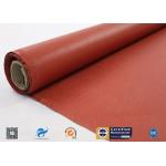 0.75 mm Red Silicone Coated High Silica Cloth Heat Resistant for sale