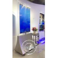 55'' floor stand transparent OLED panel dual side advertising display