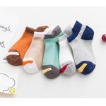 China Eco Friendly Seamless Kids Cotton Socks , Customized Logo Kids Designer Socks for sale