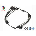 Y Branch MC4 Waterproof Solar Cable Connectors 4 In 1 Aging Resistance for sale
