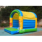 China 5x4 mts outdoor Let's party kids inflatable bouncy castle made with 610g/m2 pvc tarpaulin for sale