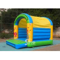 5x4 mts outdoor Let's party kids inflatable bouncy castle made with 610g/m2 pvc tarpaulin for sale