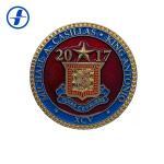 Plating Soft Enamel Custom Souvenir Coins Brass / Zinc Alloy / Iron Material for sale