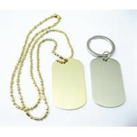 Zinc Alloy Stainless Steel Dog Tags , Aluminum Material Custom Engraved Dog Tags for sale