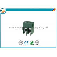 China Pitch 5.0mm PCB Screw Terminal Block Connector 2 PIN Green Color for sale