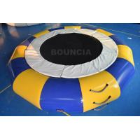 PVC Tarpaulin Round Inflatable Water Trampoline Durable With Spring Structure for sale