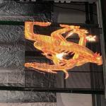 P3.91-7.8 Transparent Led Showcase Slim Light Flexible Installation Cabinet 500*1000mm for sale