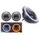 China 70W 7 Angel Eye Jeep LED Headlights High / Low H4 Or H13 Jeep Jk Halo Headlights for sale