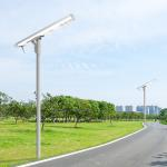 China Adjustable smart manage all in one aluminum high lumen high-way garden solar street lights for sale