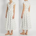 China Fashion New Women Blue White Maxi Dress Girls Wrap Dress Ladies Striped Causal Dress For Wholesale for sale