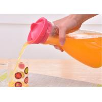 China 100ml Glass Water Pitcher With Silicone Lid For Hot / Cold Water supplier
