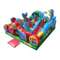 Animal Kingdom Theme Inflatable Toddler Playground / Kids Inflatable Playground for sale