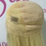 China 613 Blonde Pre Bonded Hair Extensions Transparent Full Lace Wigs Straight For Women for sale