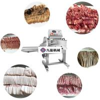 China 500kg/h Meat Cutting Equiment / Electric Barbecued Pork Cutting Machine supplier