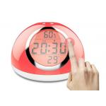 China Multicolor LED Touch Light Alarm Clock 2000MA Battery Capacity For Bedroom for sale