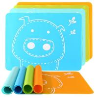 Cartoon Image Silicone Kids Product Multi Colorful Heat Resistant Food Placed for sale