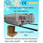 High-speed Pringting Slotting Die-cutting Carton Machines for sale
