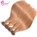 #27 Dark Blonde Human Virgin Hair Bundles / Straight Blonde Ombre Weave for sale