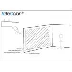 3D Holographic Rear Projector Film Adhesive Grey for Glass Use