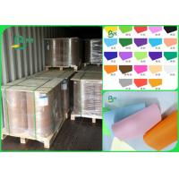 China 60gsm 70gsm 80gsm pure wood pulp good writing performance Colored offset paper in roll for sale