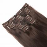 Silky Straight Virgin Clip In Hair Extensions 100 Percent Remy Human Hair No Shedding for sale