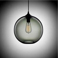 Vintage Handblown Pendant Light / Color Hanging Globe Lights Round Glass Shade For Kitchen