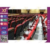China Red Color Plastic Church Chairs / Conference Auditorium Hall Seats for sale