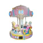 China Carousel Ride Kids Arcade Machine For 6 Players Fiberglass Material 350KG Weight for sale