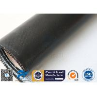 China Black Silicone Coated Fiberglass Fabric 3732 530GSM Insulated Welding Blanket for sale
