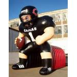 Inflatable Tunnel With NFL Player Model For Event Promotion And Advertising for sale