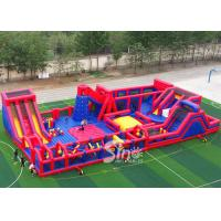 China 30x15m kids N adults big indoor inflatable theme park for indoor inflatable playground fun for sale