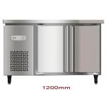 China 200L Double Door Saving-energy Low Noise Stainless Steel Commercial Freezer, Kitchen Undercounter Refrigerator for sale
